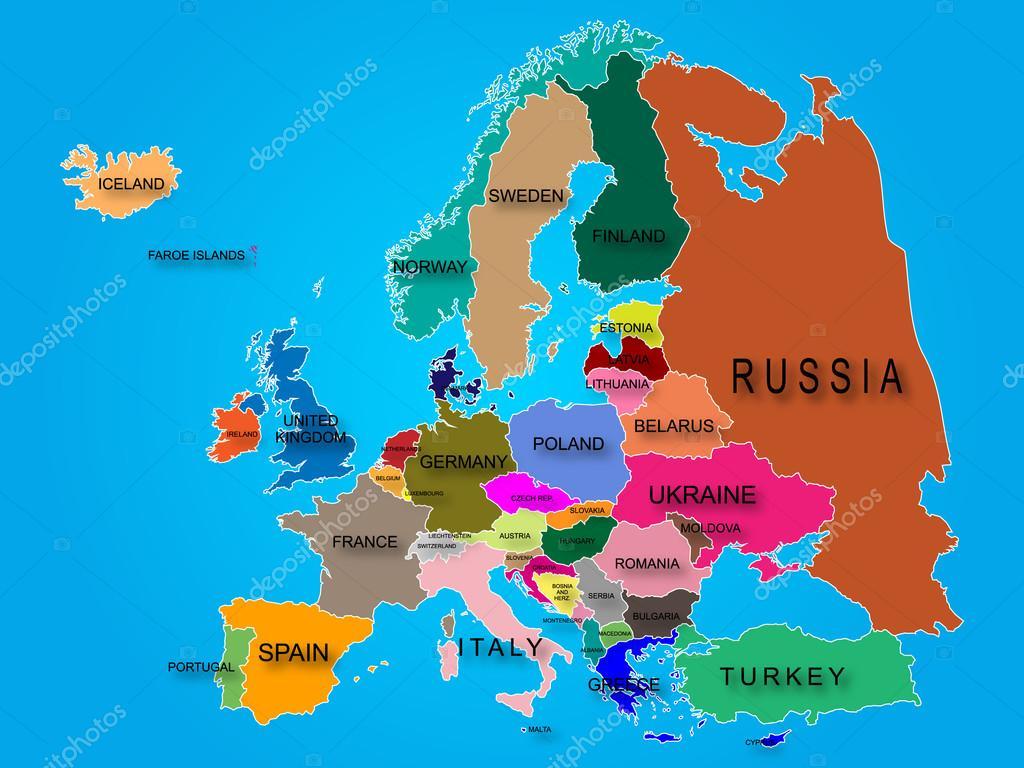 karta över europa map karta över Europa — Stock Vektor © savi88 #65381167 karta över europa map