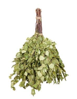 Birch broom hangs
