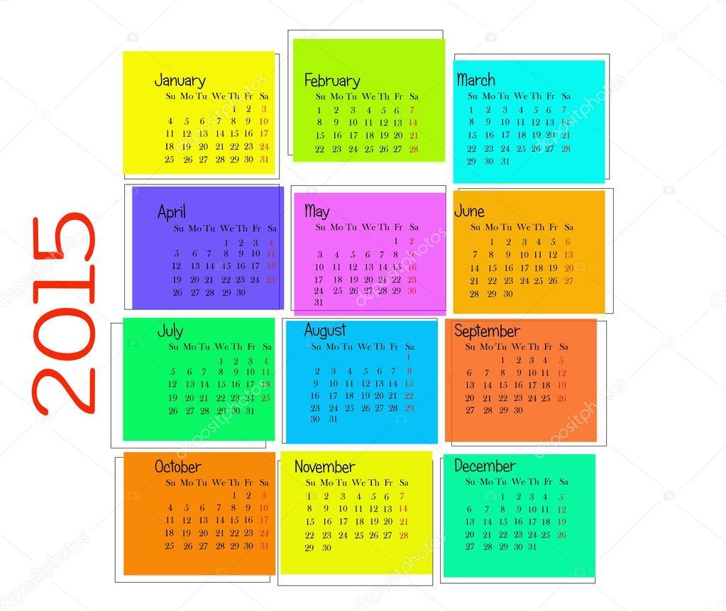 calendario colorido — Foto de stock © angiolina #53000089