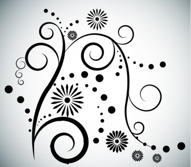 vector background with swirls