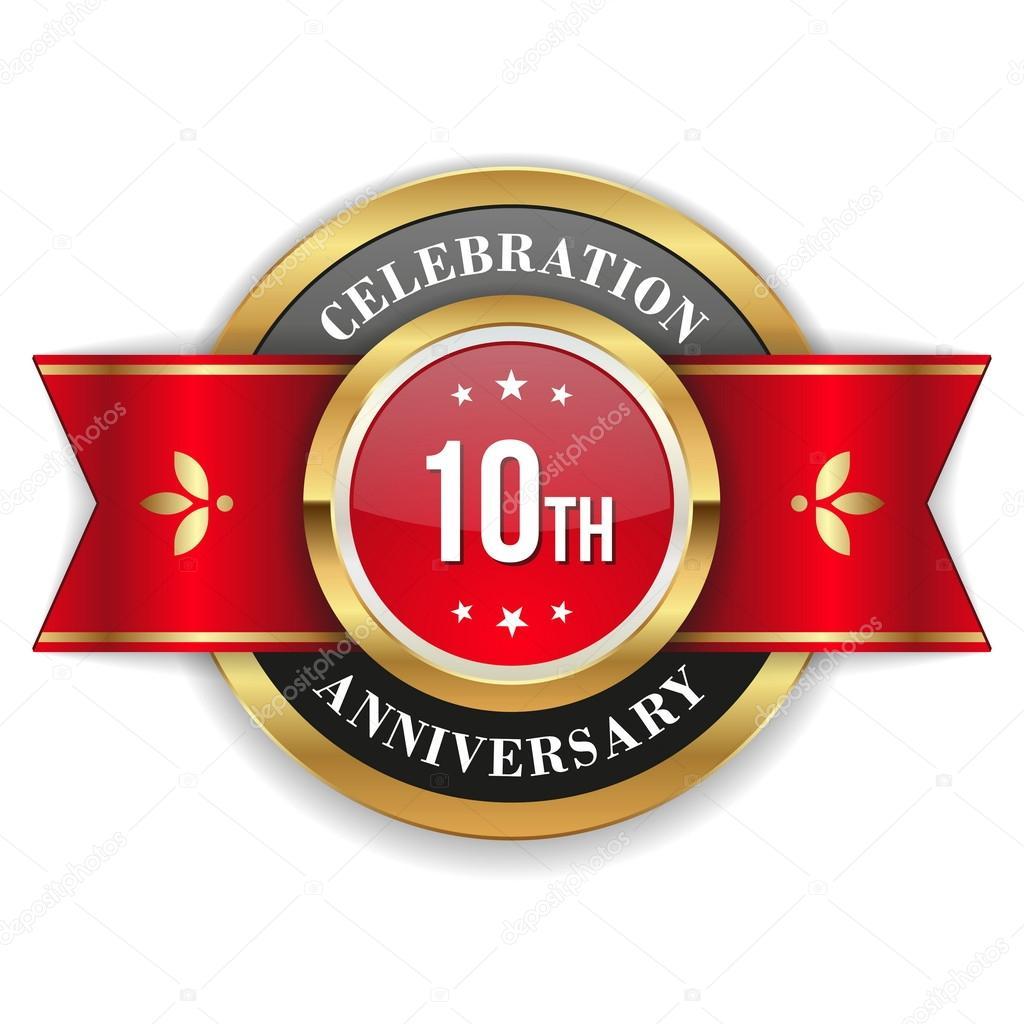 Gold 10th anniversary badge stock vector newartgraphics 53692219 gold 10th anniversary badge stock vector biocorpaavc