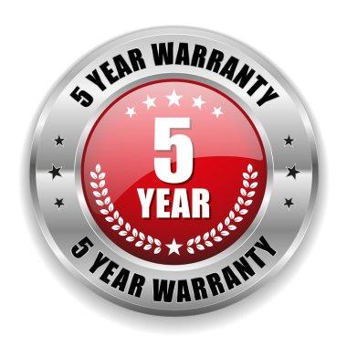 5 year warranty button
