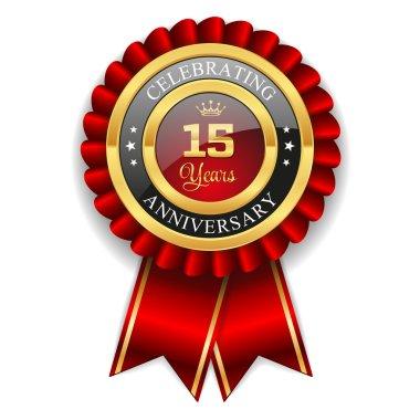 Gold 15 years anniversary badge