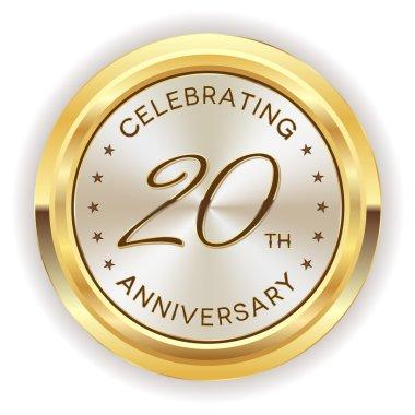 20th anniversary badge