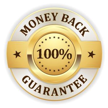 Gold money back badge