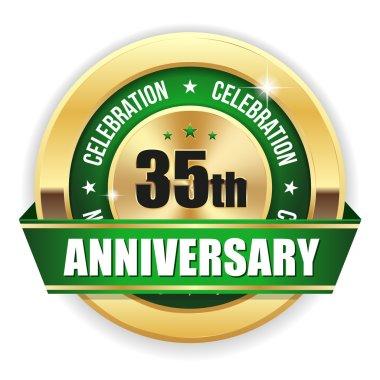 Green  35th anniversary badge