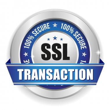 Blue secure transaction button