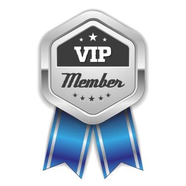 Silver vip member rosette