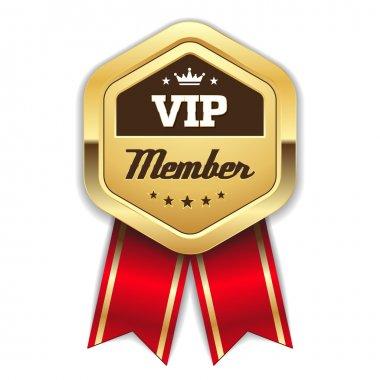 Gold vip member rosette