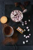 Photo Hot chocolate with marshmallows