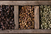 Fotografie Variation of coffee beans