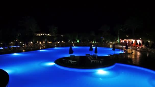 Night swimming pool on the hotel