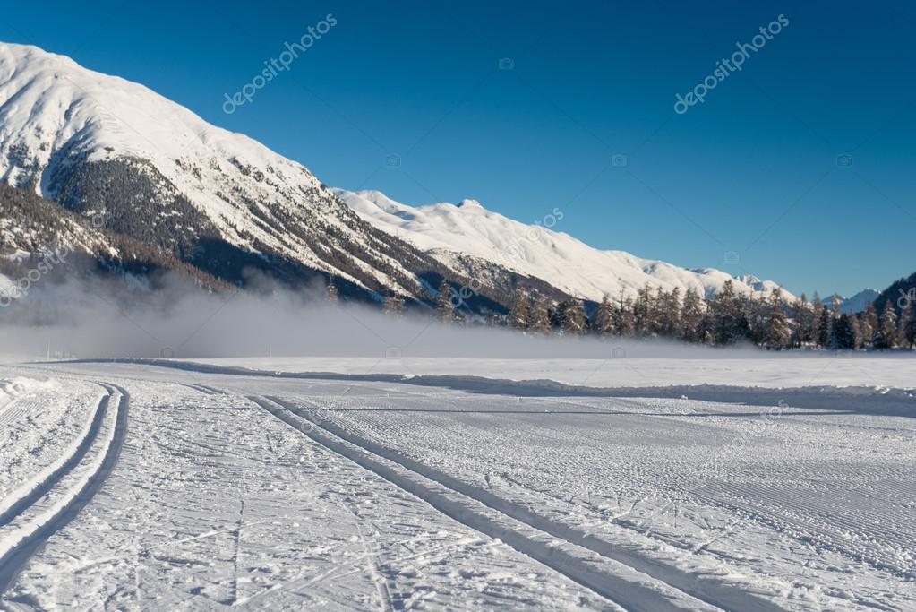 Nordic ski track