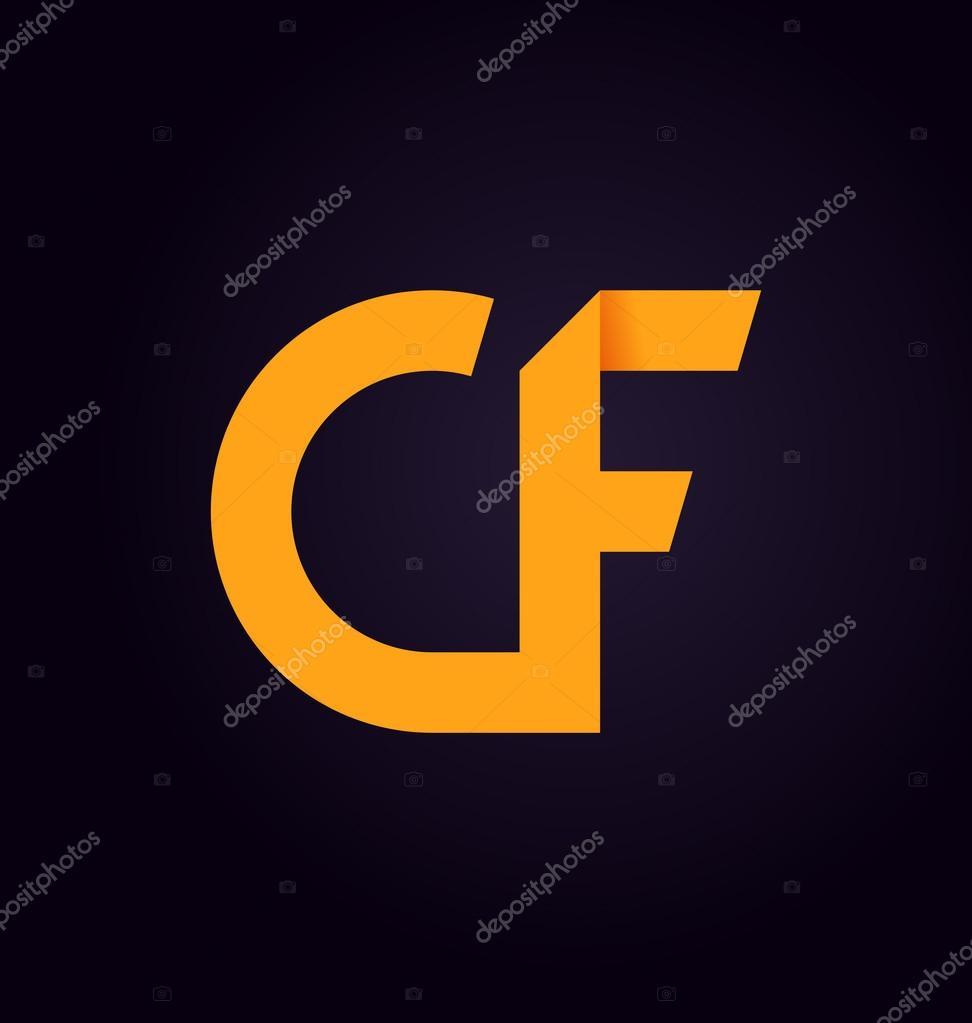 Moderm minimalis initial logo CF — Stock Vector © rijal #113352368