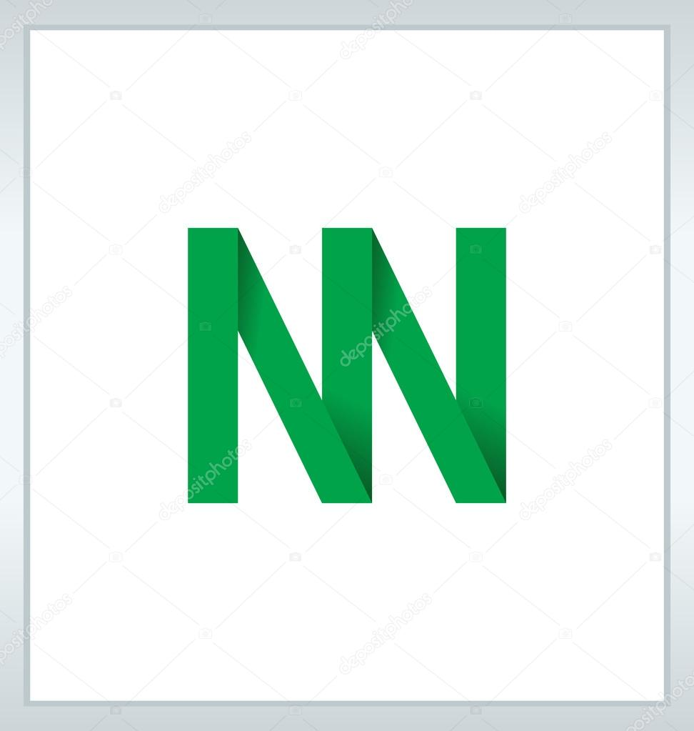 近代 minimalis 初期ロゴ Nn — ...