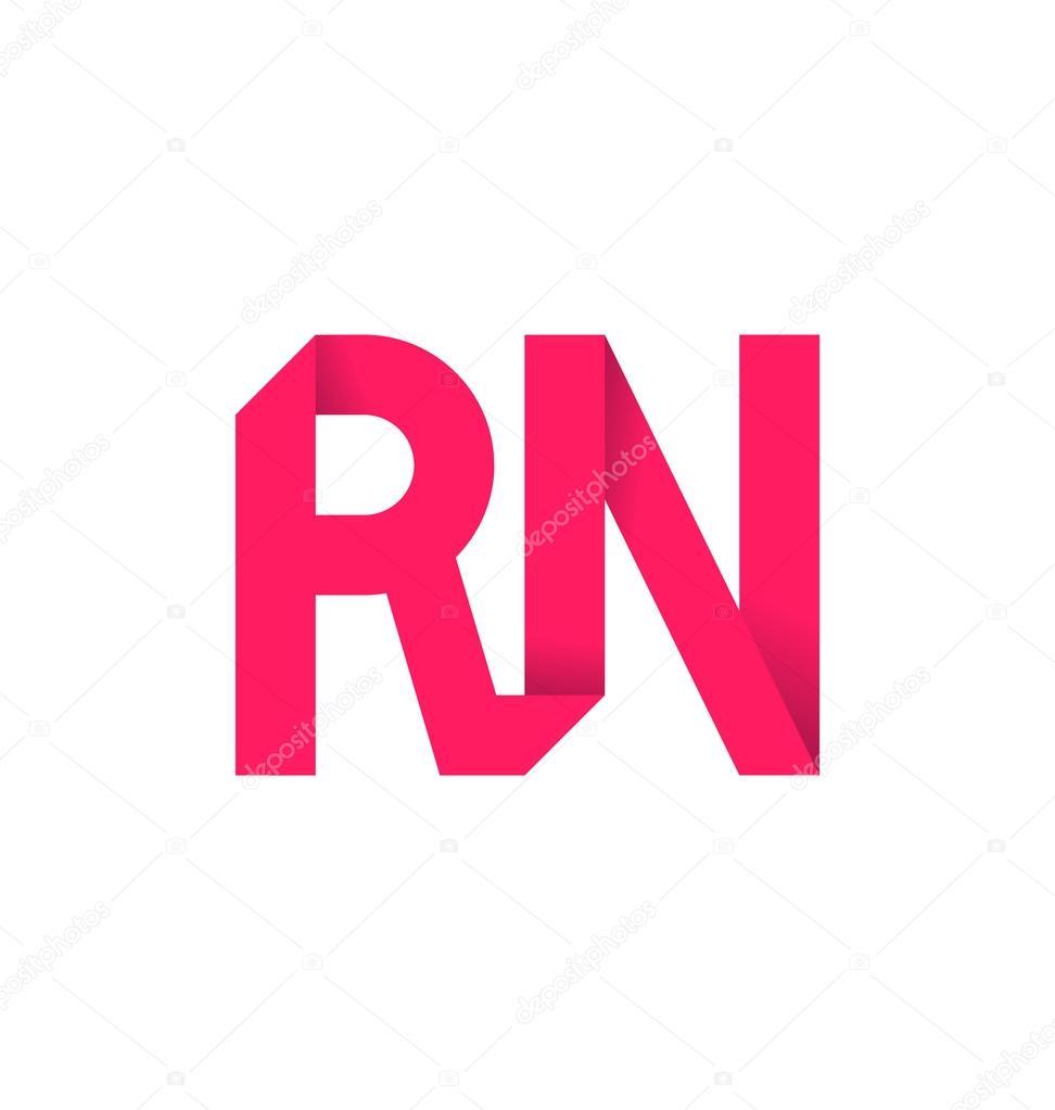 moderm minimalis initial logo rn stock vector rijal 113637050