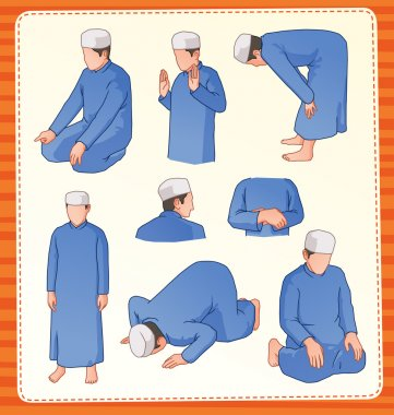 Muslim praying postion