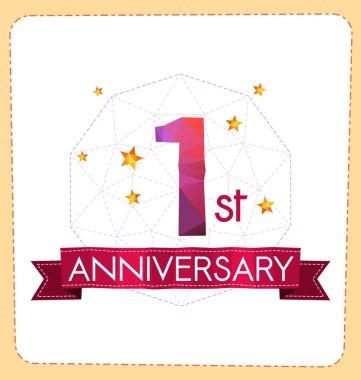 polygonal number anniversary logo