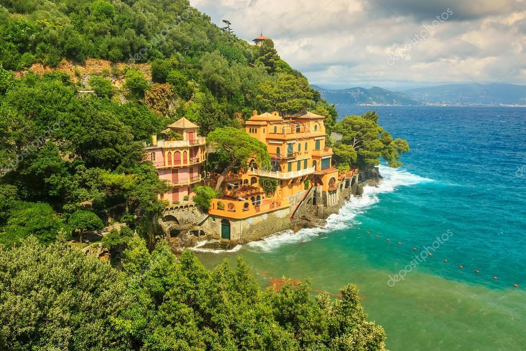 Luxury Homes Near Portofino,Liguria,Italy,Europe U2014 Stock Photo