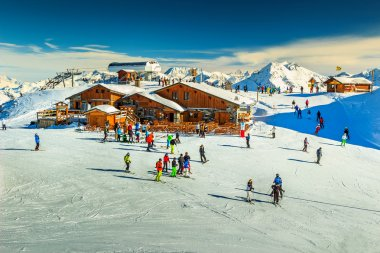 Stunning ski resort in the Alps,Les Menuires,France,Europe