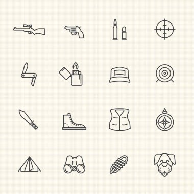 Line icons. Hunting