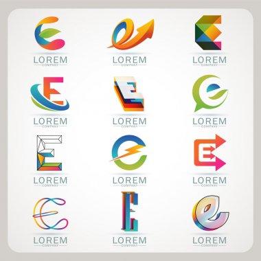 Logo letter E element