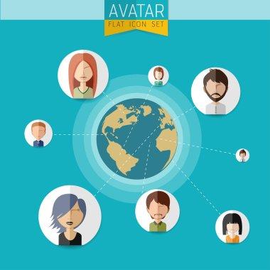Social Network  Avatar Set