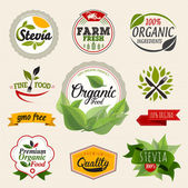 Fotografie Organic food label Set.