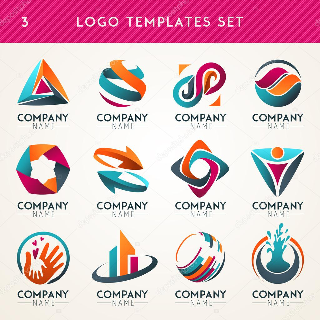Abstract logos, web Icons, symbols