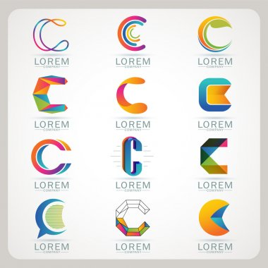 C Logo elements and Icons