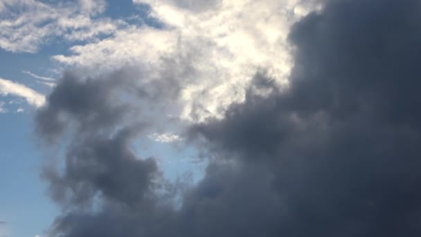 Timelapse of dark clouds gathering before a thunderstorm