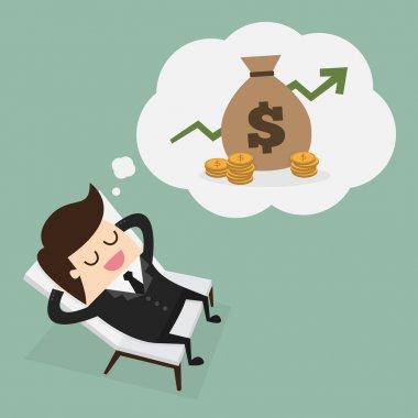 Passive income, eps 10 vector illustration