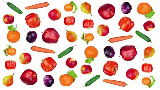 Chutné ovoce a zelenina na bílém pozadí