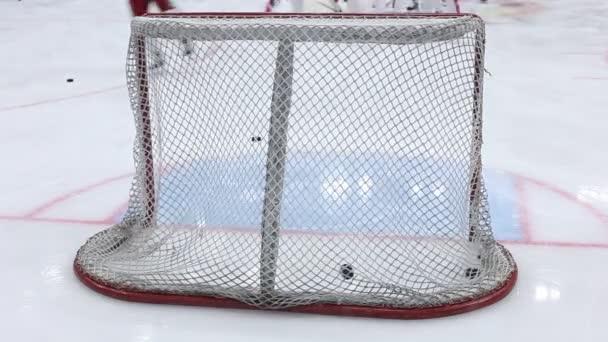hokejové branky closeup