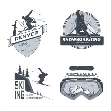 Snowboard icon design.