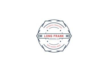 Brewing logo template. Line art. Stock vector.