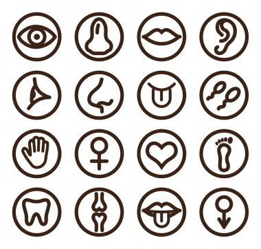 Medical line icon set for web and mobile