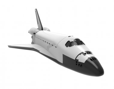 Space Shuttle isolated on white