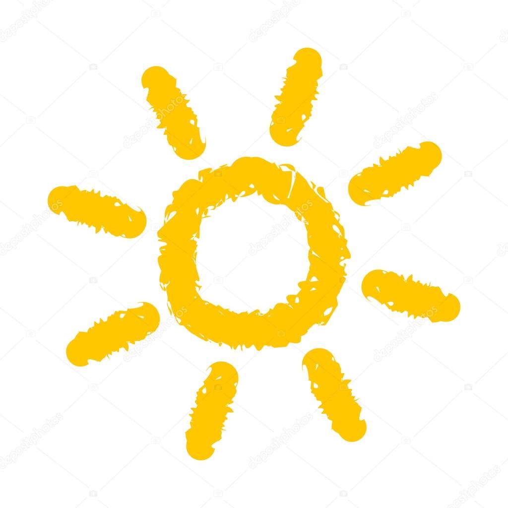 Güneş Boyama Stok Vektör Studiobarcelona 124180022