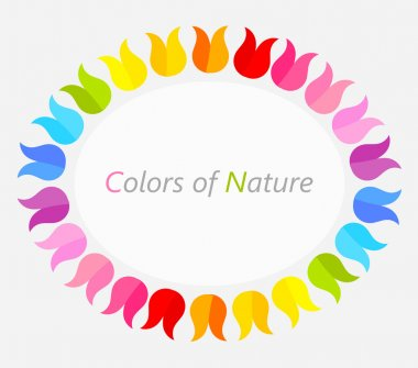 Colorful flower border
