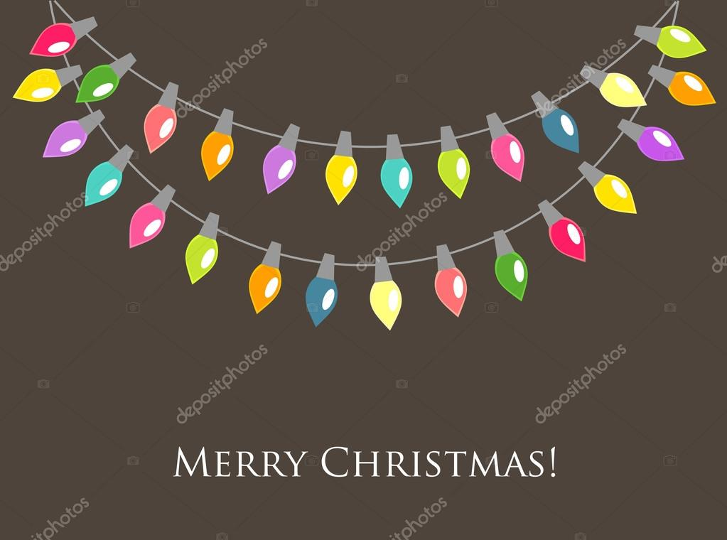 Christmas lights background. Vector illustration — Vector by ...
