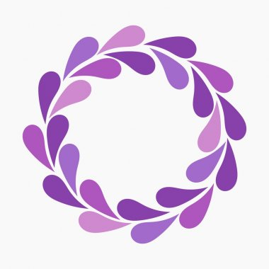 wreath from Purple flower's petals