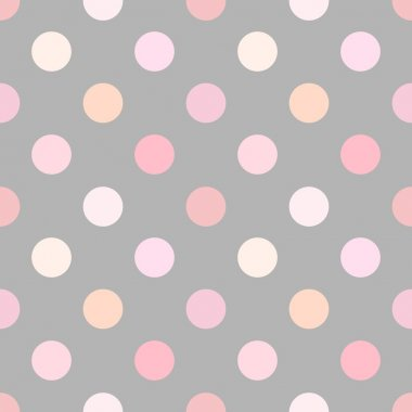 Dusty pink polka dot seamless pattern