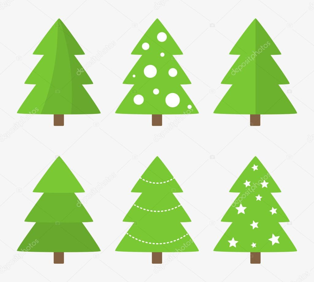 Christmas trees symbols set stock vector studiobarcelona 93322922 christmas trees collection vector illustration vector by studiobarcelona biocorpaavc Image collections