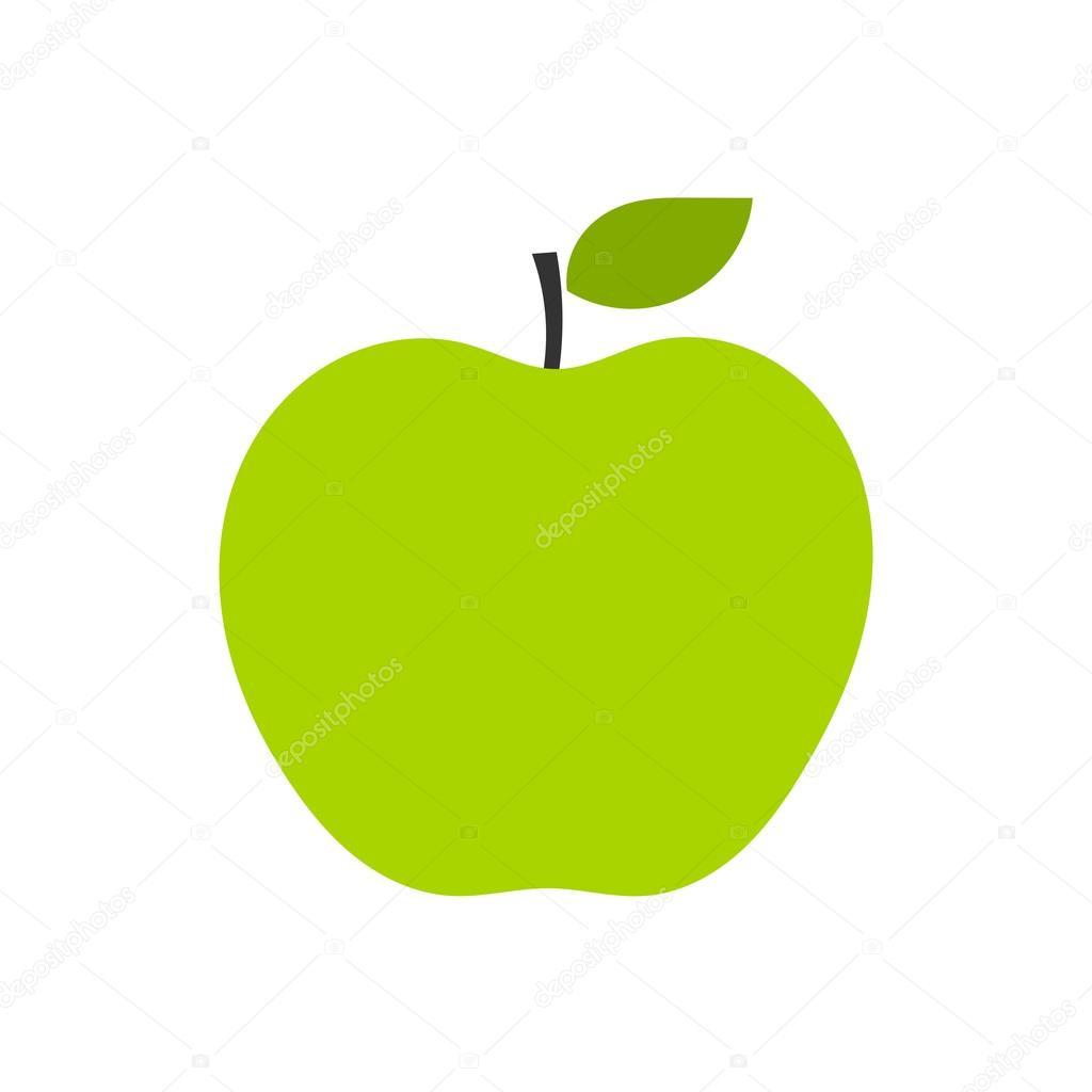 green apple logo — stock vector © studiobarcelona #99589224