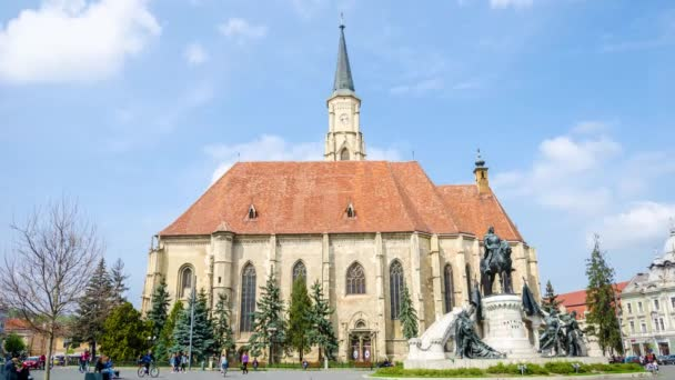 Saint Michael Church in Unirii Square in Cluj-Napoca