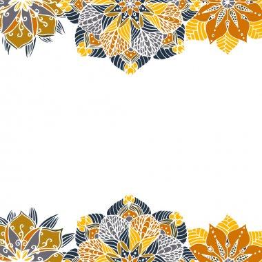 Flower mandala background