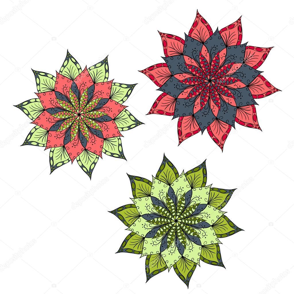 Fondo de flor mandala — Vector de stock © 0112angel #106710208