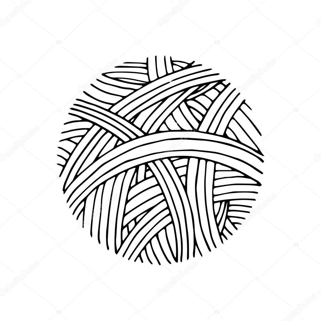 Vector: bola de hilo | Patrón de bolas de hilo — Vector de stock ...