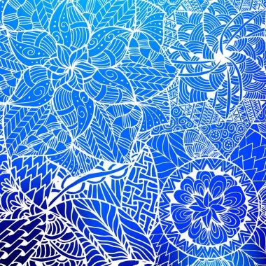 flower mandala card in vector